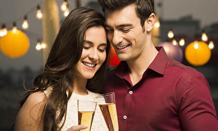 Image of a celebrating couple